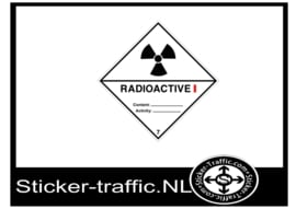 Radioactive categorie 1 sticker