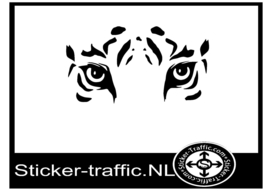 Tijger design 2 sticker