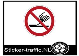 Slijper verboden sticker