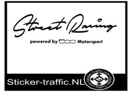 FIAT 500 Street Racing Sticker