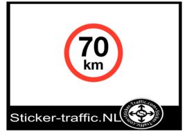 70 km sticker