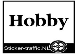 Hobby caravan sticker