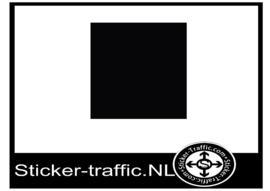 Zwart A4 vel sticker