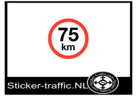 75 km sticker