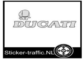 Ducati olifant  zilver Fullcolour sticker