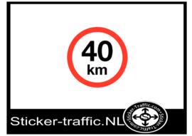 40 km sticker