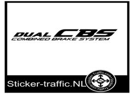 Duel CBS sticker totale lengte 20 cm