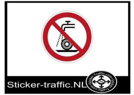 Nat slijpen verboden sticker
