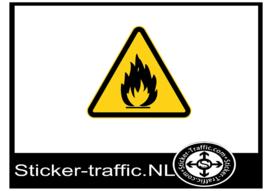 Brandgevaar sticker