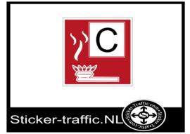 Brandklasse C sticker