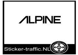 Alpine sticker