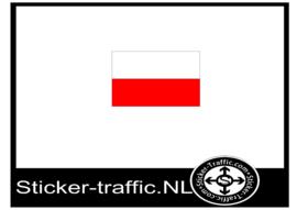Poolse vlag sticker