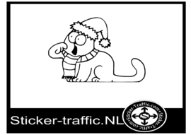 Simon cat design 6 sticker