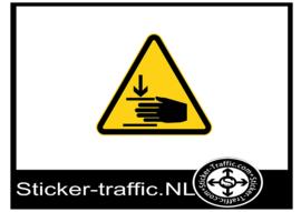 Beknelling sticker