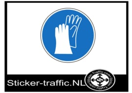 Handschoenen sticker