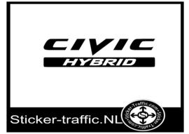 Honda Civic Hybrid sticker