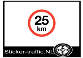 25 km sticker