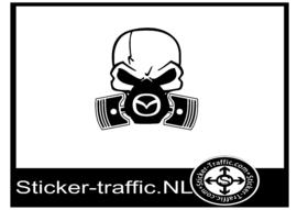 Mazda skull sticker