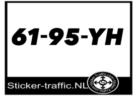 Boot registratie nummer 61-95-YH sticker