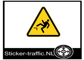 Gevarenpictogram stickers