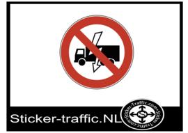 Niet wegrijden bij incident sticker