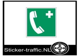 Noodtelefoon sticker