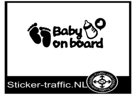 Baby on board design 9 sticker