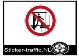 Onafgewerkte stelling verboden te gebruiken sticker
