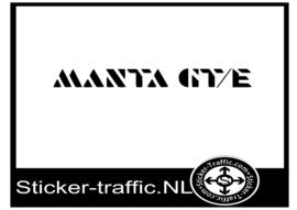 Opel Manta GTE sticker