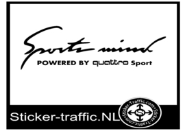 quattro Sports Mind Sticker