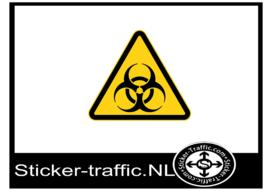 Biologisch gevaar sticker