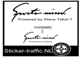 Wens Tekst Sports Mind Sticker