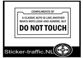 Do not touch sticker 17 cm