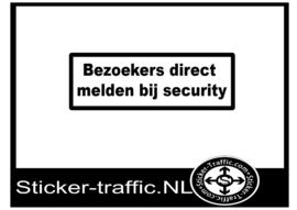 Bezoekers melden bij security sticker