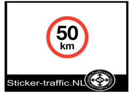 50 km sticker