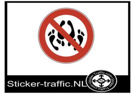 Seksuele activiteit verboden sticker