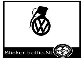 Volkswagen granaat sticker