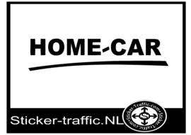Home-car caravan sticker