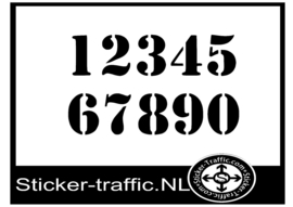 Cross nummers design 7 sticker