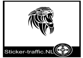 Tijger design 1 sticker
