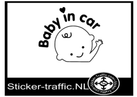 Baby on board design 4 sticker