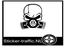 Volkswagen skull sticker