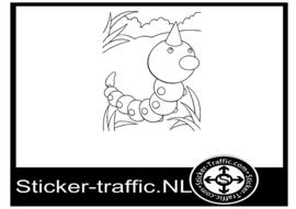 Pokemon Weedle sticker