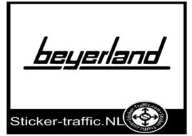 Beyerland caravan sticker