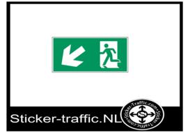 Vluchtweg links beneden sticker