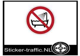 Niet gebruiken in water sticker
