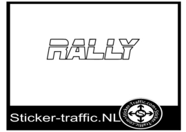 Rally design 1 sticker