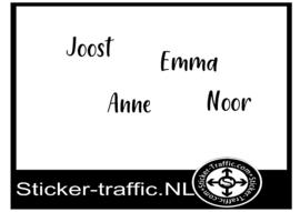 Joost, Anne, Emma , Noor sticker