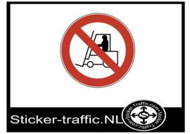 Heftruck verboden sticker