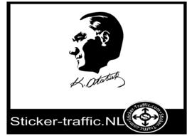 Ataturk met hantekening sticker